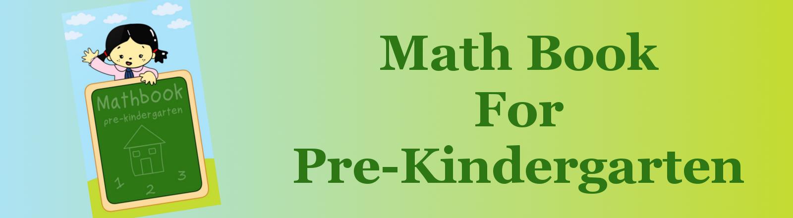 Math Book For Pre-Kindergarten